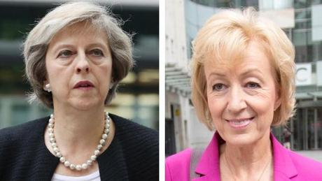 Leadsom and May square off in race for party leadership